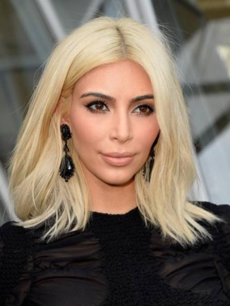Kim Kardashian Medium Blonde Lace Front Wig
