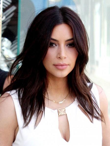 Kim Kardashian New Medium Wavy Cut Hair Wig
