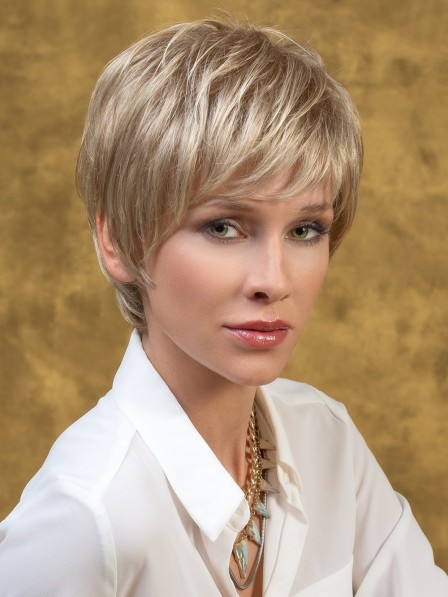 Lace Front Blonde Short Wig For Ladies