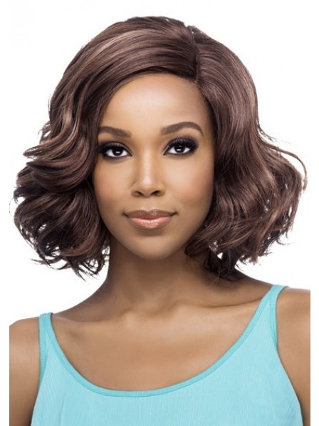 Lace Front Bob Style Wavy Wig For Women