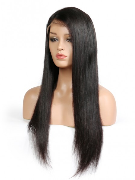 Lace Front Human Hair Wigs Natural Black For Women Straight Brazilian Remy Hair Lace Wigs Pre Plucked With Baby Hair
