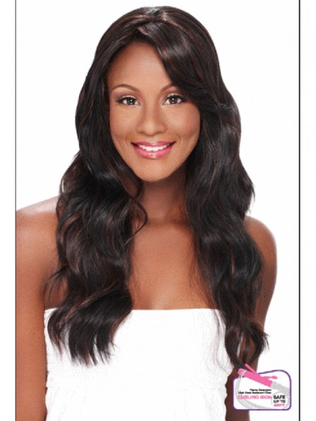 Lace front mono top 100% human hair water wavy wigs with oblique bangs