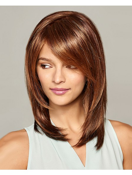 Lace Front Mono Top Brown Bob Wig