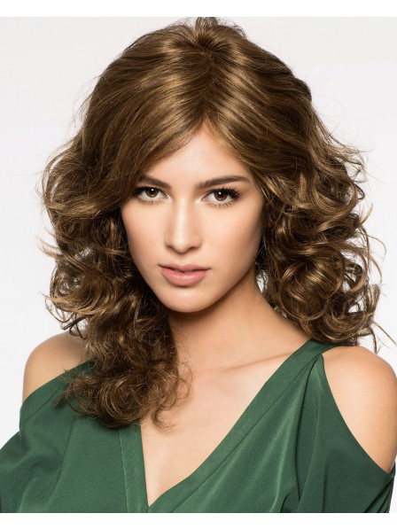 Lace Front Monofilament Synthetic Curly Wig