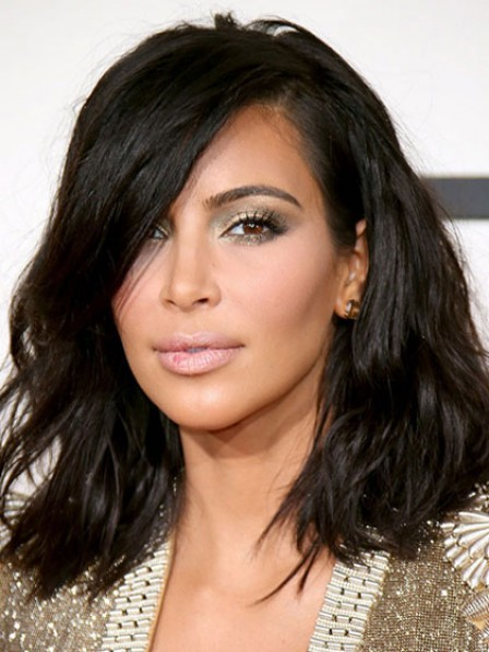Latest Kim Bob Lace Front Synthetic Celebrity Wigs