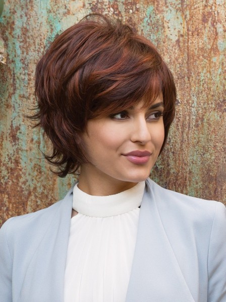 Layered Cut with Flipped Ends Lace Front Monofilament Wig