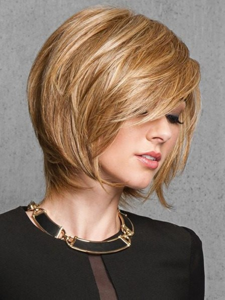 layered look Short Women Wig