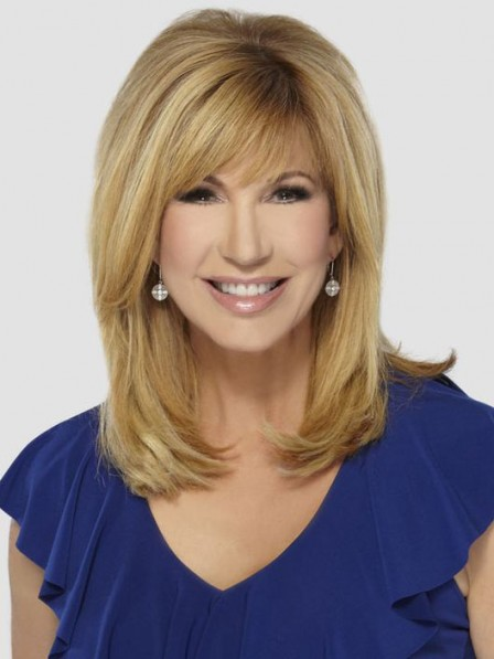 Leeza Gibbons Long Straight Blonde Human Hair Wig