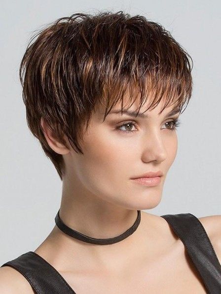 Light Pixie Cut Short Women Wig