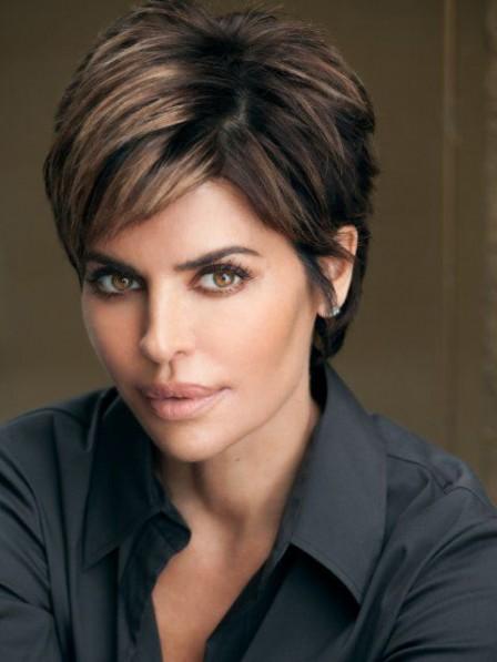 Lisa Rinna Short Straight Cut Human Hair Wig