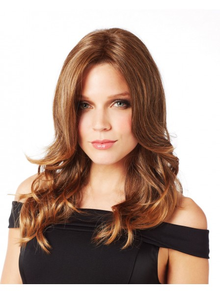 Long and gorgeous wavy curls capless synthetic hair wig