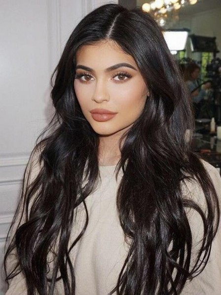 Long Black Modern Full Lace Wavy 100% Human Hair Wigs