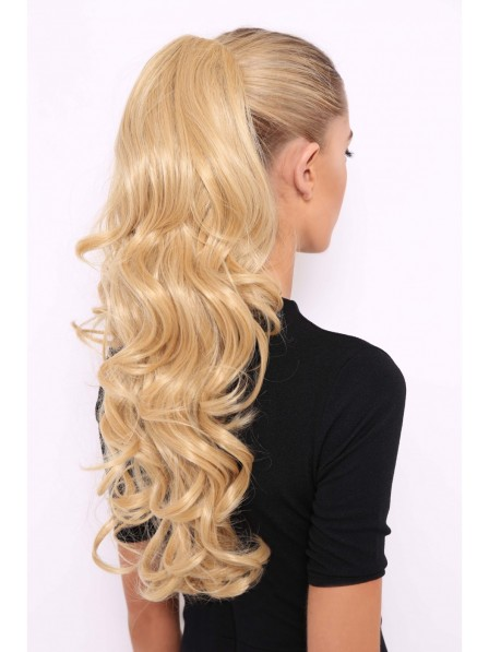 Long Blonde Curly Glam Ponytail