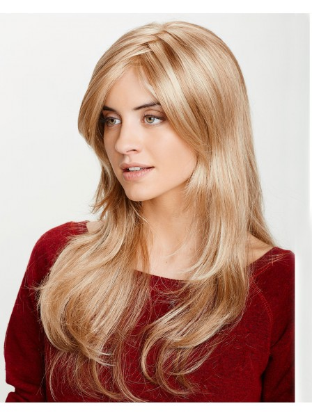 Long Layered Blonde Synthetic Hair Wig