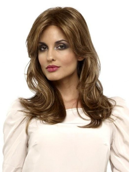Long Layered Lace Front Straight Women Wig