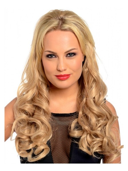 Long Loose Curls Half Head Wig