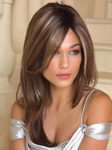 Long Soft Layers Lace Front Mono Top Women Wig