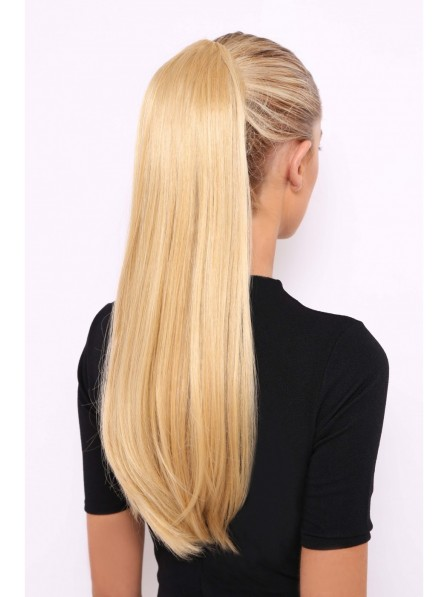 Long Straight Synthetic Hair Blonde Ponytail
