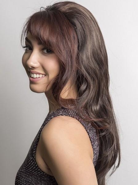 Long Synthetic Hair 3/4 Cap Fall Wigs