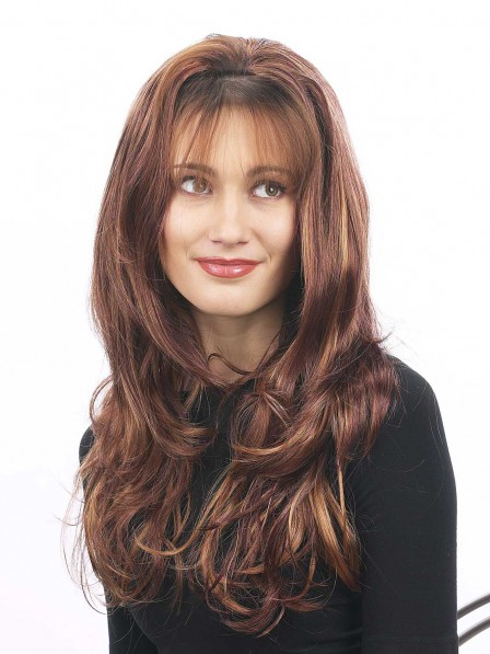 Long Wavy 3/4 Synthetic Wig For Women