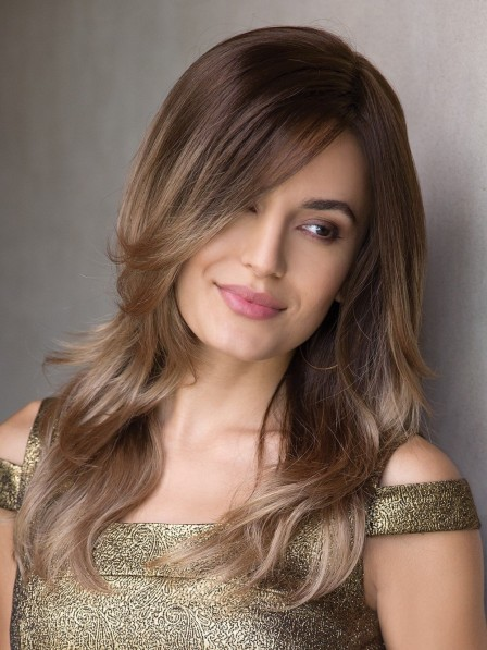 Long Wavy Synthetic Lace Front Monofilament Wig