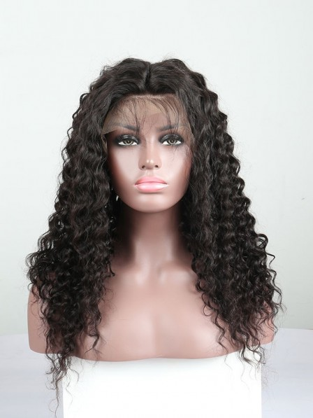 Loose Curly Lace Front Human Hair Wigs 250% High Density Lace Wigs 22a4beab4c