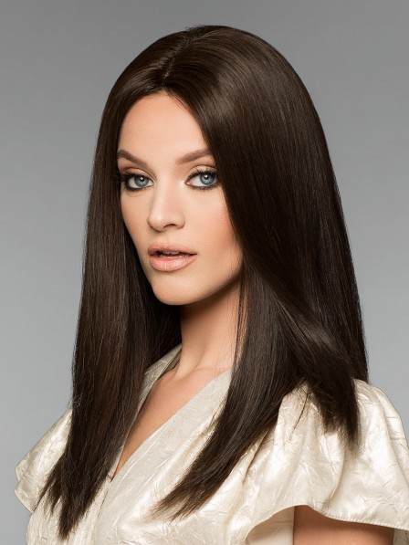 Luxurious 100% Human Hair Lace Front Monofilament Straight Wig