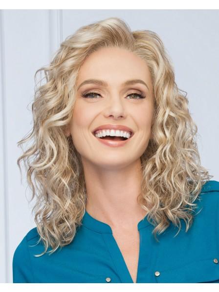 Luxury Loose waves shoulder length blonde wig