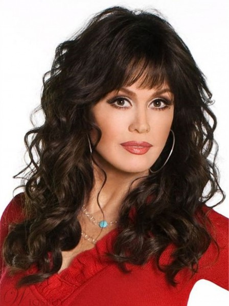 Marie Osmond Full Bang Human Hair Medium Wig