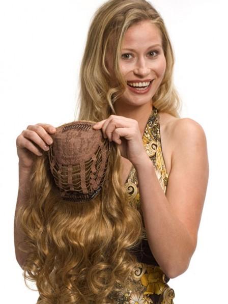 Medium Chestnut Blonde 100% Human Hair 3/4 Wigs