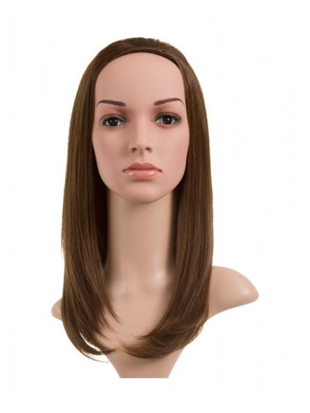 Medium Length Straight Half Head Synthetic Wig