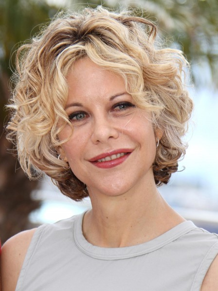 Meg Ryan Short Curly Synthetic Hair Wig