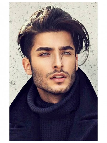 Mens Hairstyle Straight Side Lace Front Wigs
