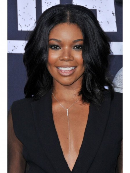 Mid Length Black Wavy Human Hair Wigs For Black Women