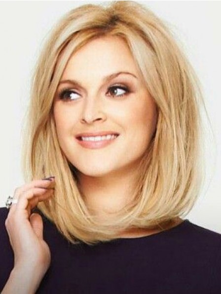 Modern Bob Full Lace Synthetic Celebrity Blonde Wigs