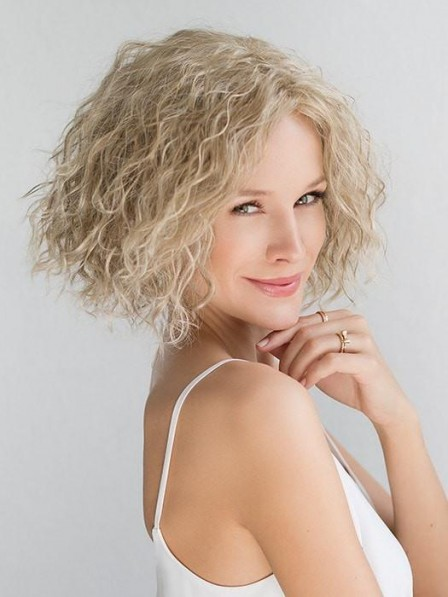 Natural Looking Curly Blonde Lace Front Wig