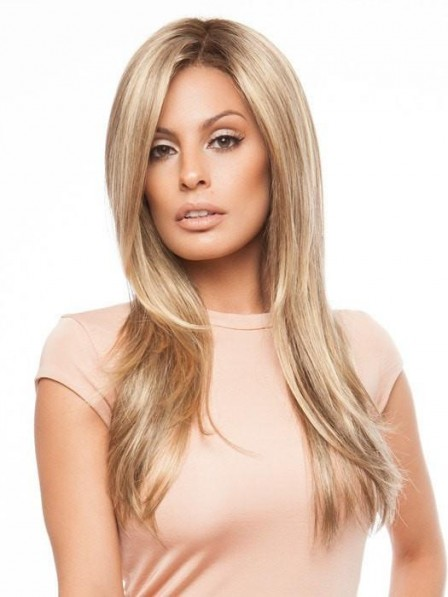 Natural Looking Long Straight Blonde Women Wig