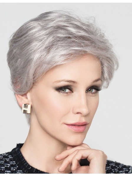 2c5c28d313e296 Natural Short Grey Hair Wig For Old Women - Rewigs.co.uk