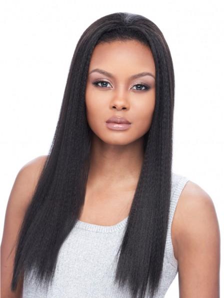 Natural Yaki Long Synthetic Half Wig
