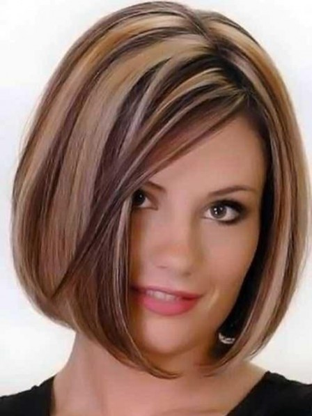 New Medium Length Straight Bob Wigs For Women