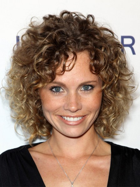 Nice Katie Cooper Full Lace Curly Synthetic Short Wigs For Ladies Over 40
