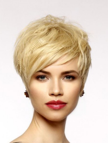 Nice Lace Front Pixie Real Hair Straight Wigs