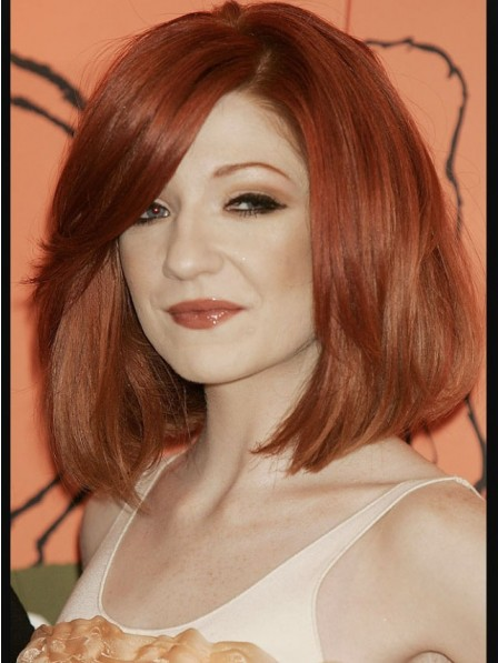 Nicola Roberts Classic Medium Red Cut Wig