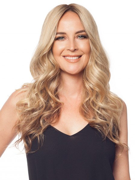 "22"" Wavy Blonde 100% Human Hair Mono Hair Pieces"