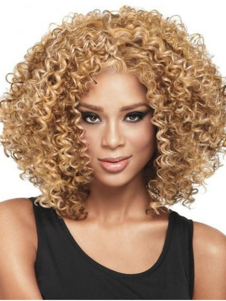 Shoulder Length Curly Capless Wig