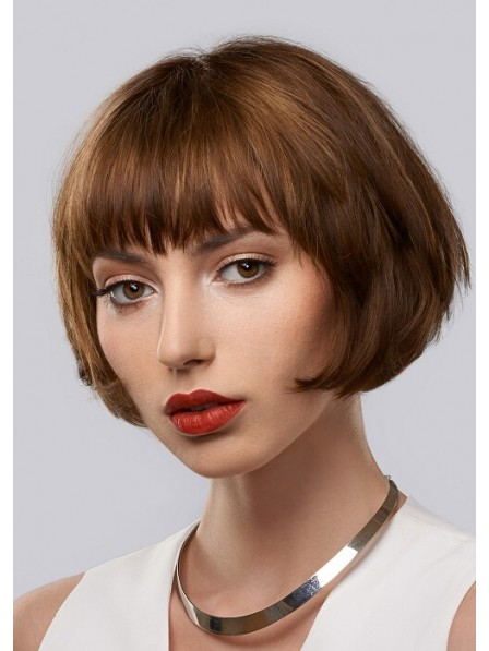 Short Bob Straight Hair Wig With Bangs