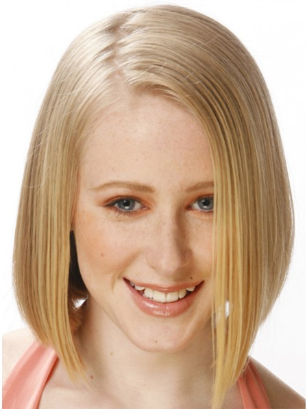 Human Hair Full Lace Mid-Length Hair Wig