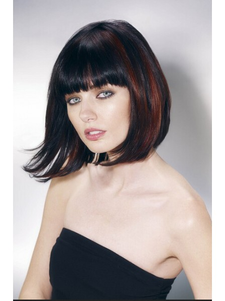Capless Medium Straight Synthetic Wig