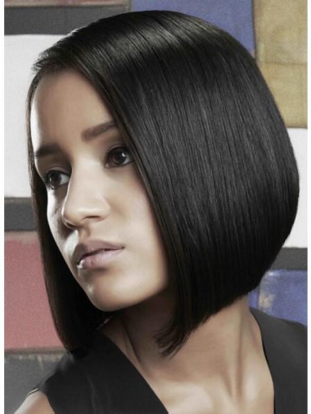 Medium Lace Front Mono Top Straight Human Hair Wig