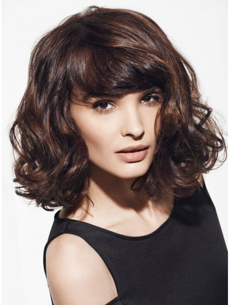 Capless Wavy Shoulder Length Synthetic Wig